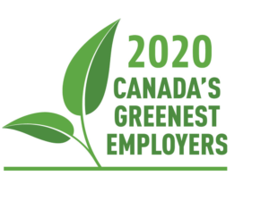 Canada's Greenest Employer 2020 official logo